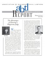 Front page of ABTL 2019 Issue featuring magistrate judges